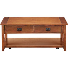 Rutledge Mission Oak Coffee Table