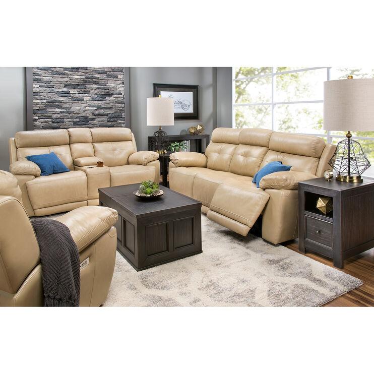 Rhodes Tan Power Reclining Sofa