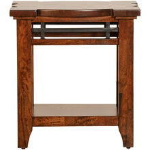 Whistler Retreat Dark Chestnut Chairside Table