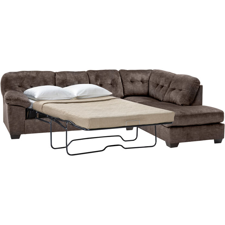 Bellows Brown Right Chaise Sleeper