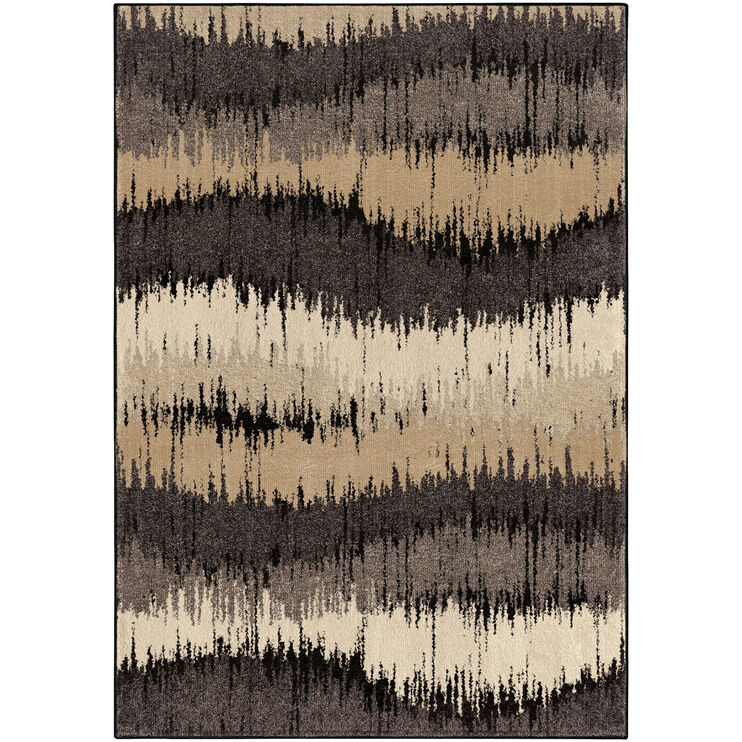 Heritage Brushed Gray Waves 5 x 8 Rug