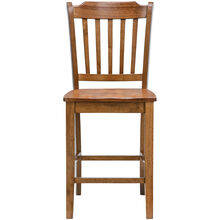 Platinum Oak 24 Inch Slat Counter Stool