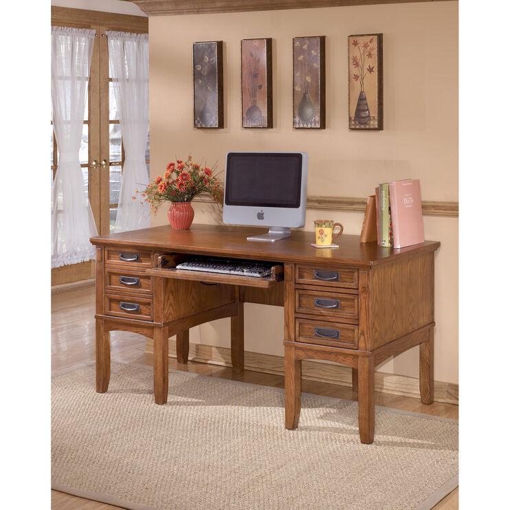 Cross Island Brown Desk w/Storage