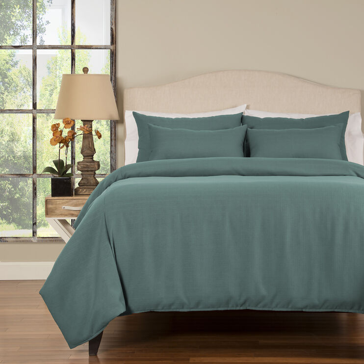 Linen Teal 6 Piece Teal Queen Linen Set