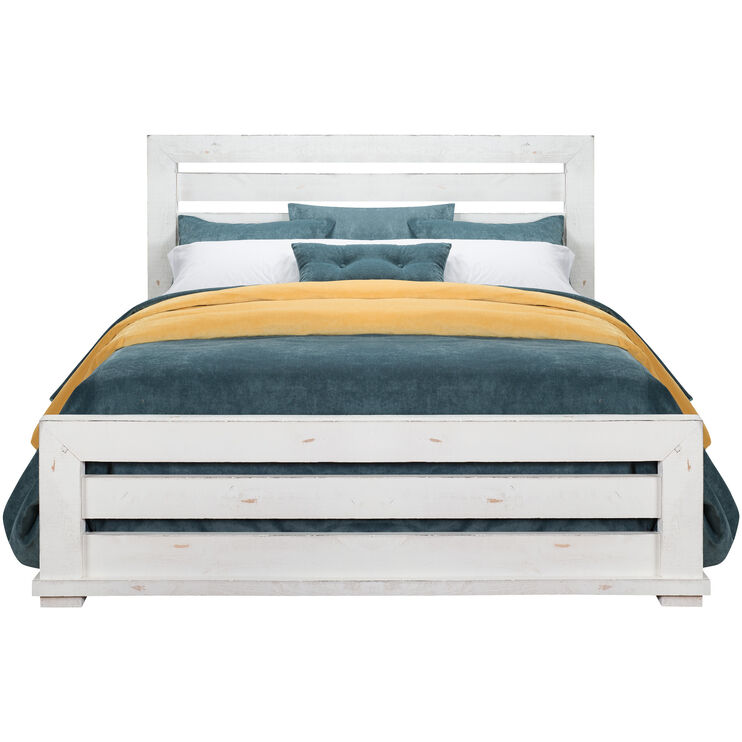 Willow White Queen Slat Bed