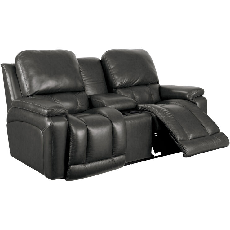 Greyson Charcoal Console Loveseat