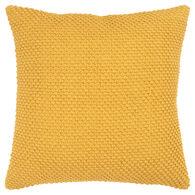 Aztec Yellow Textured Down Pillow