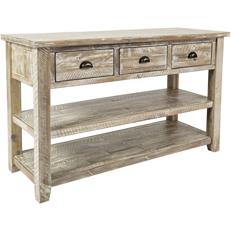 Artisans Craft Gray Wash Console Table