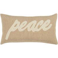 Sentiment Peace Oblong Down Pillow