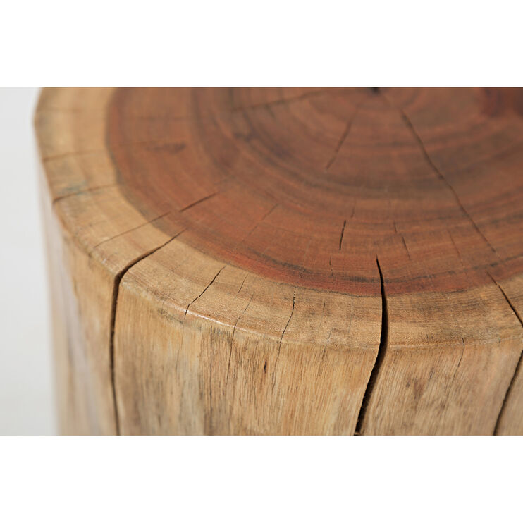 Global Archive Solid Acacia Stump Accent