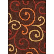 Veranda Semi Swirls Brown 8 x 11 Rug