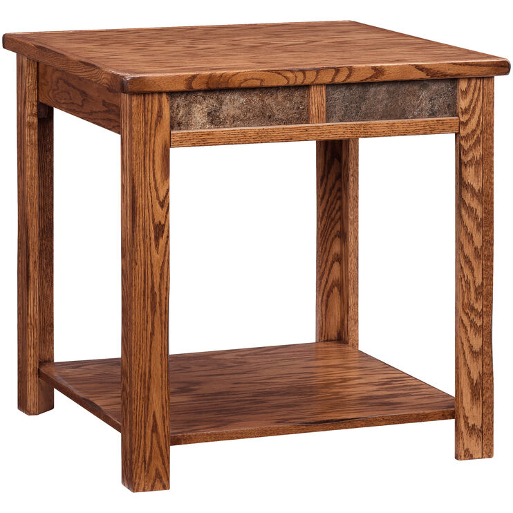 Slumberland Furniture Evanston Antique Oak Rustic End Table