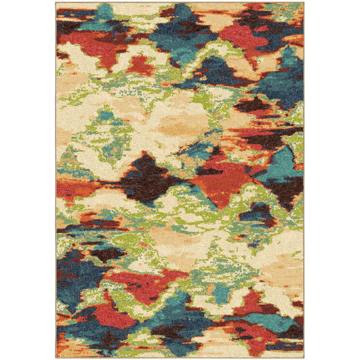 Spoleto Diamond Patches Multi 8 x 11 Rug