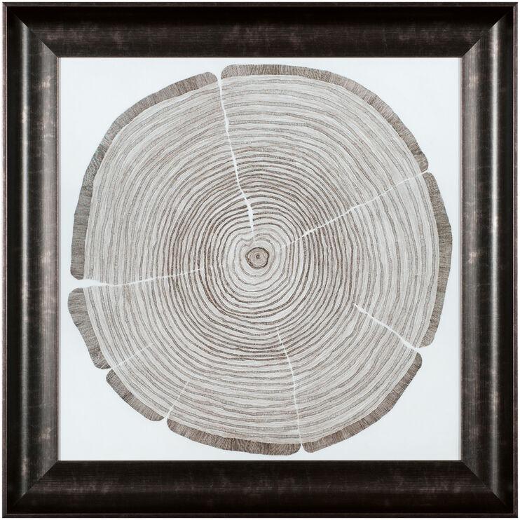 Tree Lines Cross Cuts Wall Art