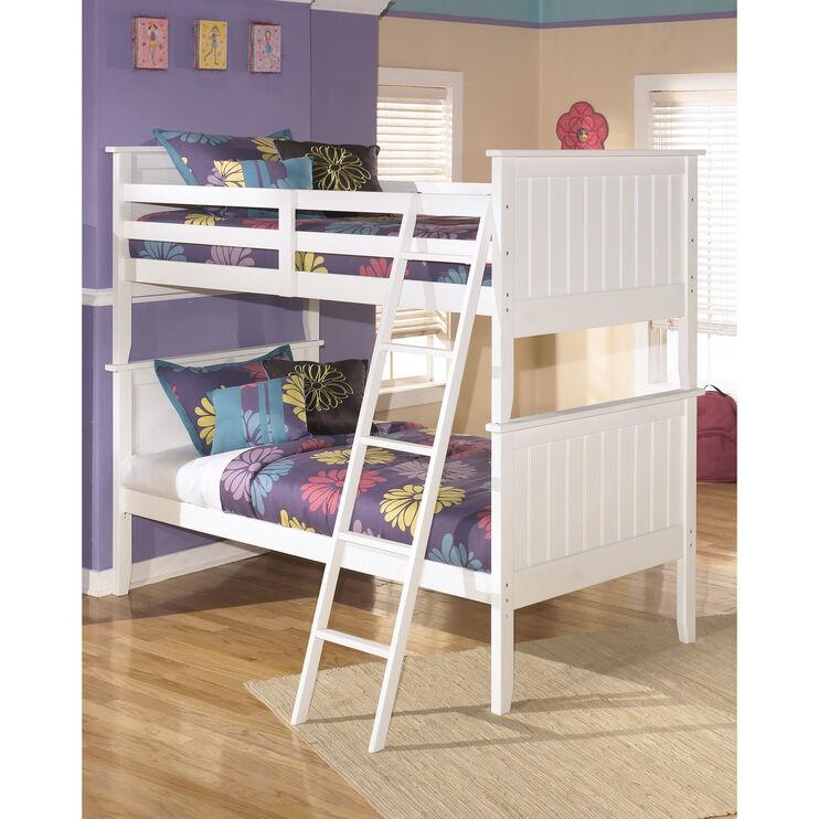 Lulu White Twin Twin Bunk Bed