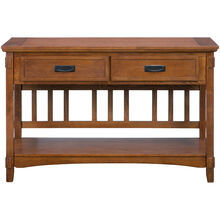 Cross Island Medium Oak Sofa Table