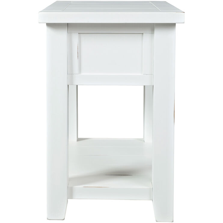 Artisans Craft White Chairside Table