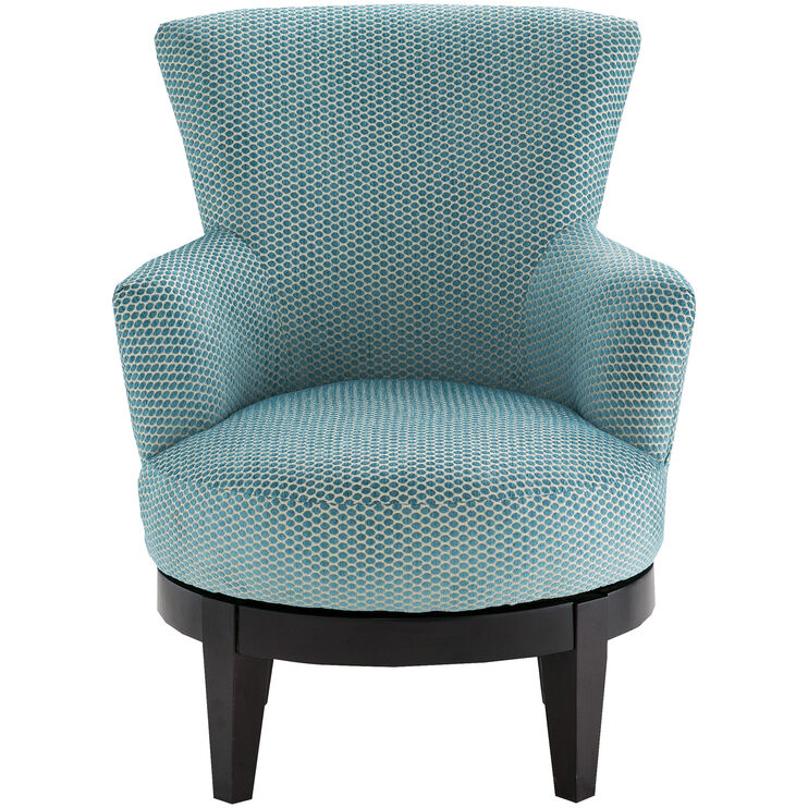 Justine Turquoise Swivel Chair