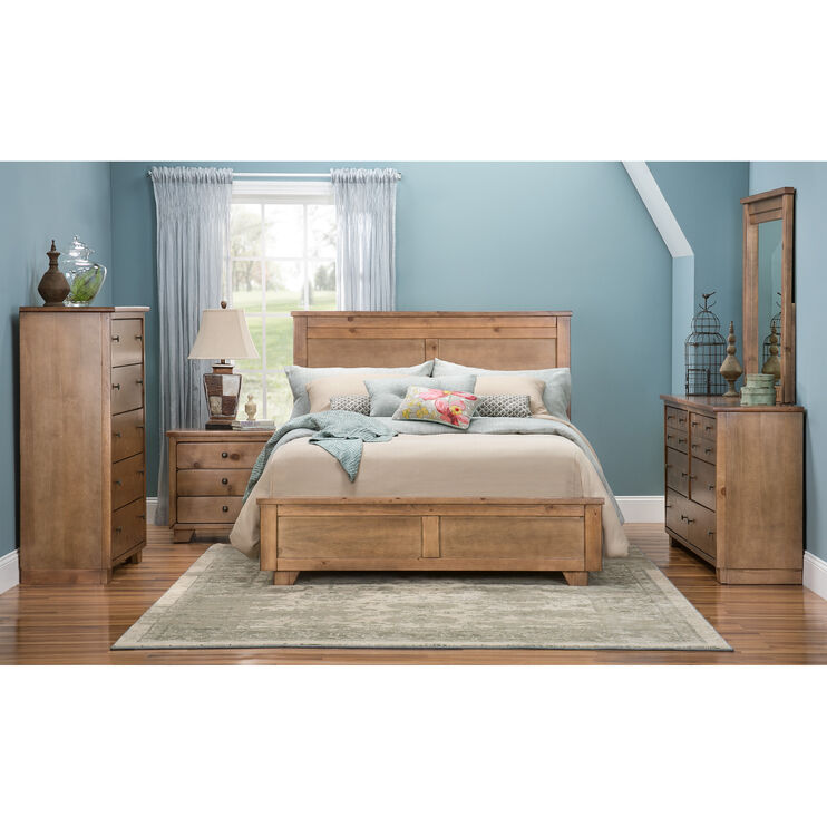 Diego 4 Piece Dune Queen Package with Metal Rails
