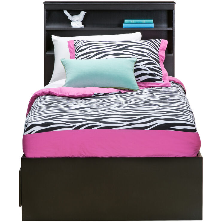 Jacob Black Twin Bookcase Captains Bed