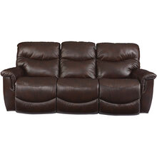James Walnut Reclining Sofa