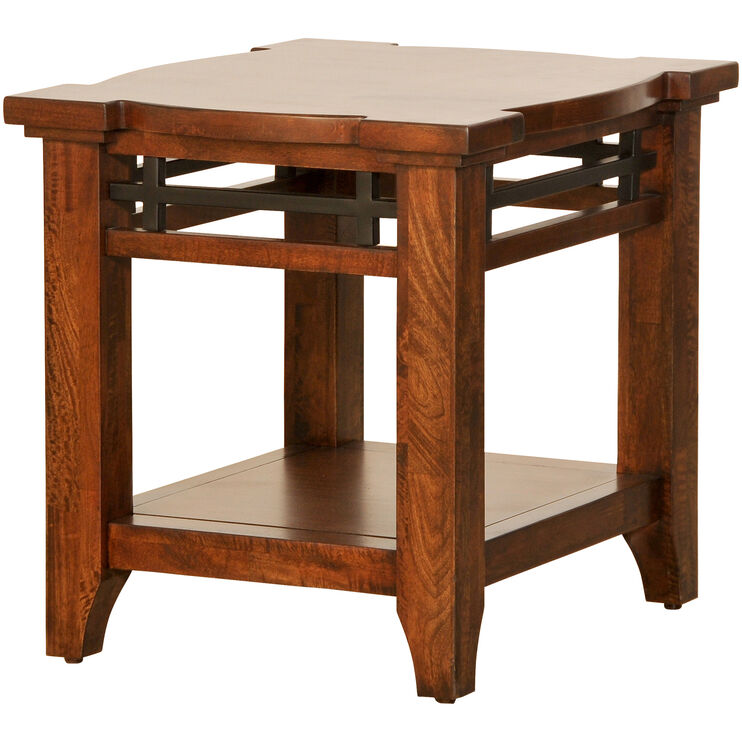 Whistler Retreat Brown End Table