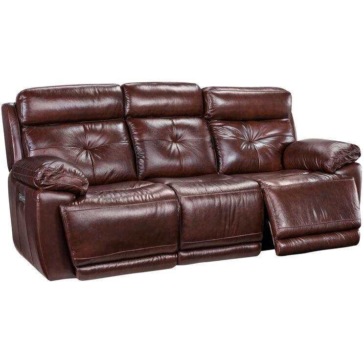 Slumberland Furniture Rhodes Brown Power Reclining Sofa