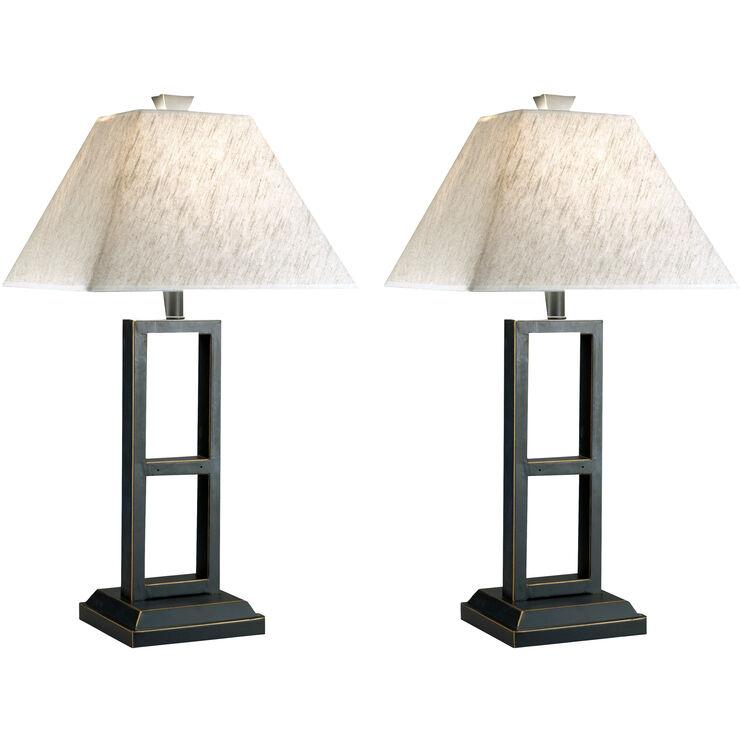 Deidra Black Set of Two Table Lamps