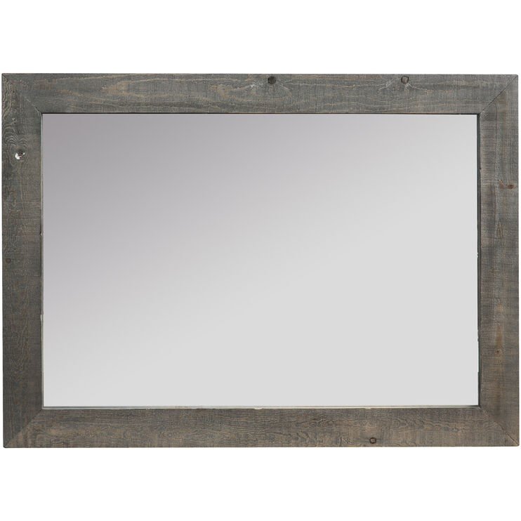 Willow Distressed Gray Mirror