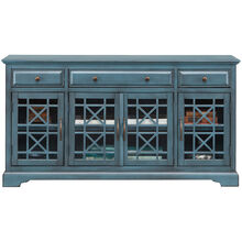 Chilton 60 Inch Antique Blue Console