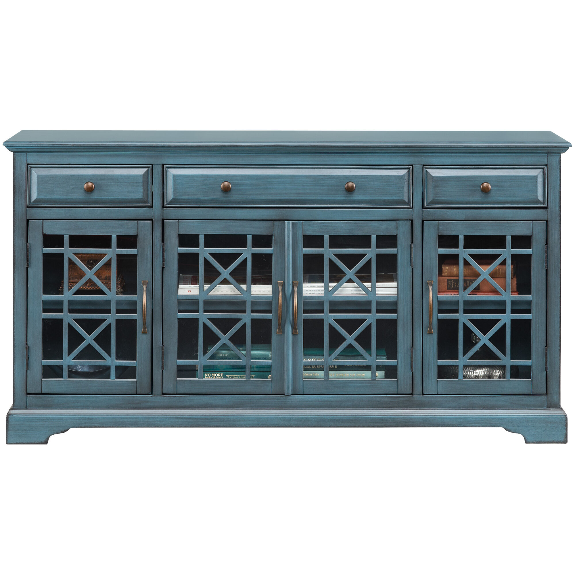 ... Chilton 60u0026quot; Antique Blue Console ...