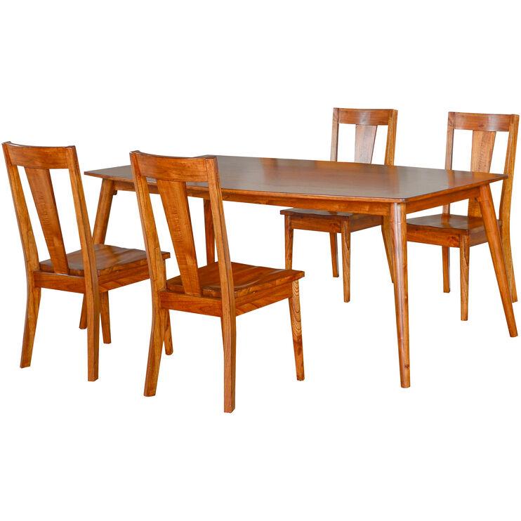 Phenomenal American Modern Cinnamon 5 Piece Dining Set Slumberland Download Free Architecture Designs Itiscsunscenecom