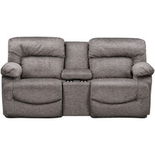 Asher Sable Reclining Console Loveseat