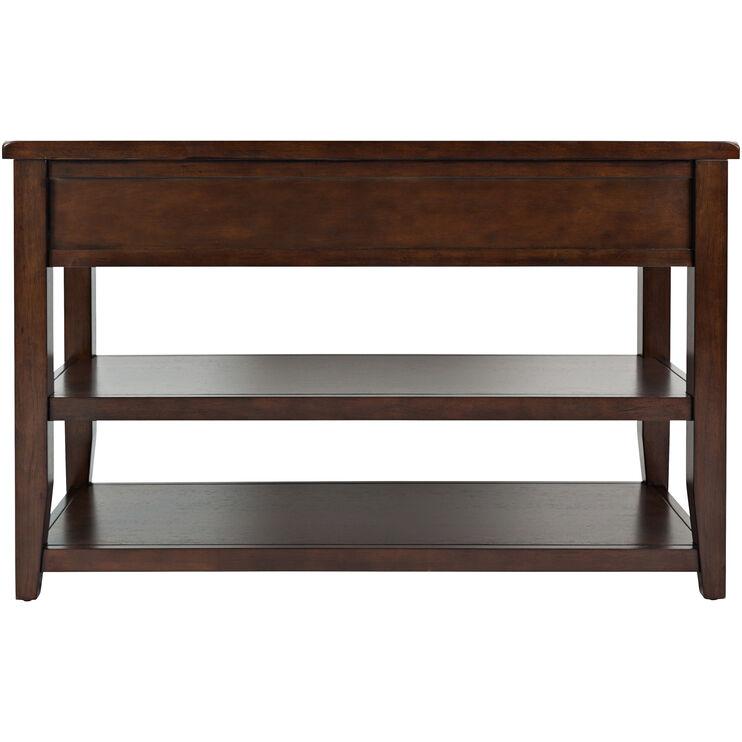 Phalen Arabica Dark Brown Console Table