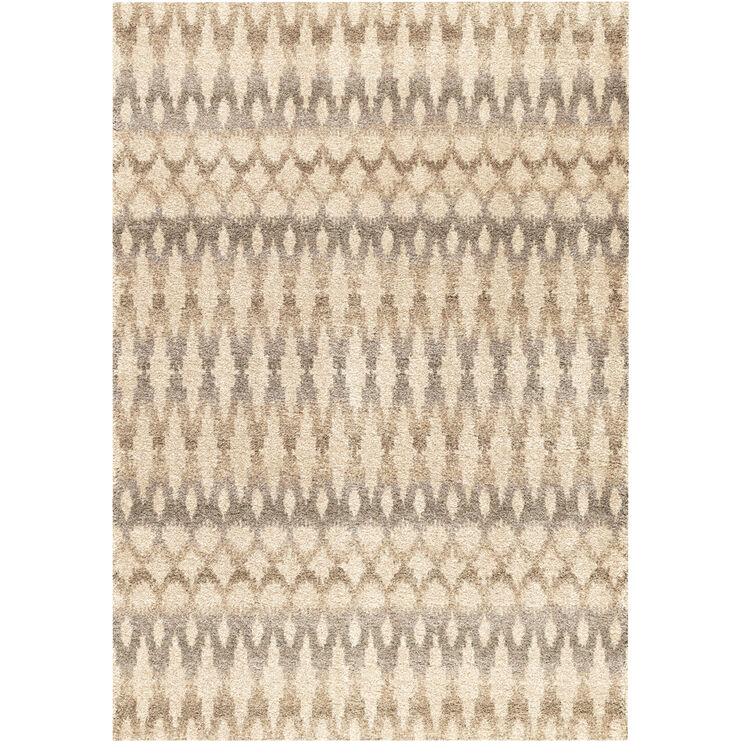 Majestic Ikat Ombre Ivory 5 x 8 Rug