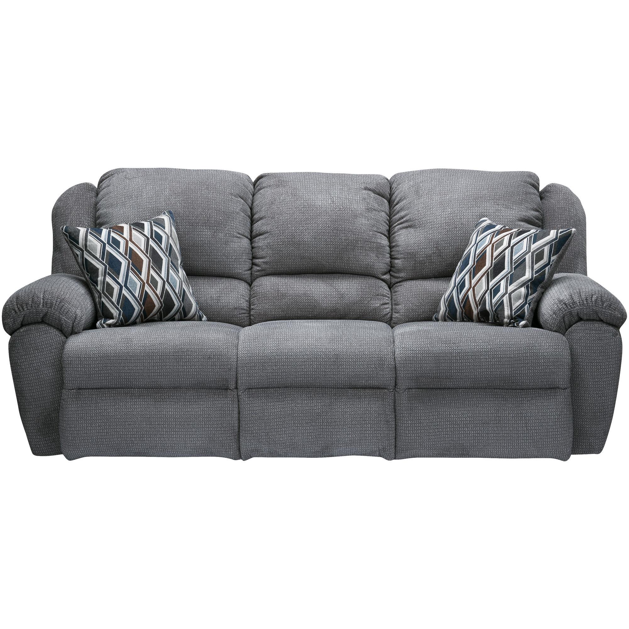 Genial Burnaby Gray Reclining Sofa