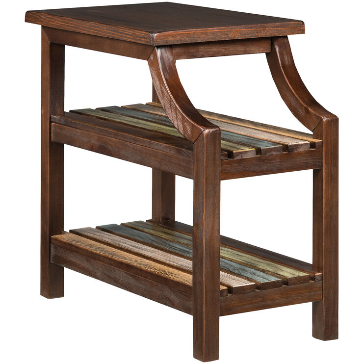 Mestler Brown Chairside Table