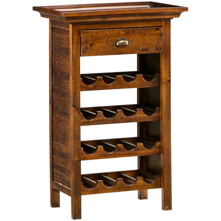 Urban Lodge Brown Wine Rack