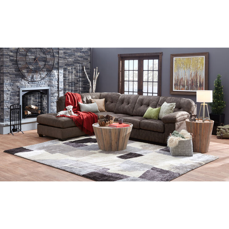 Bellows Brown Left Chaise Sectional