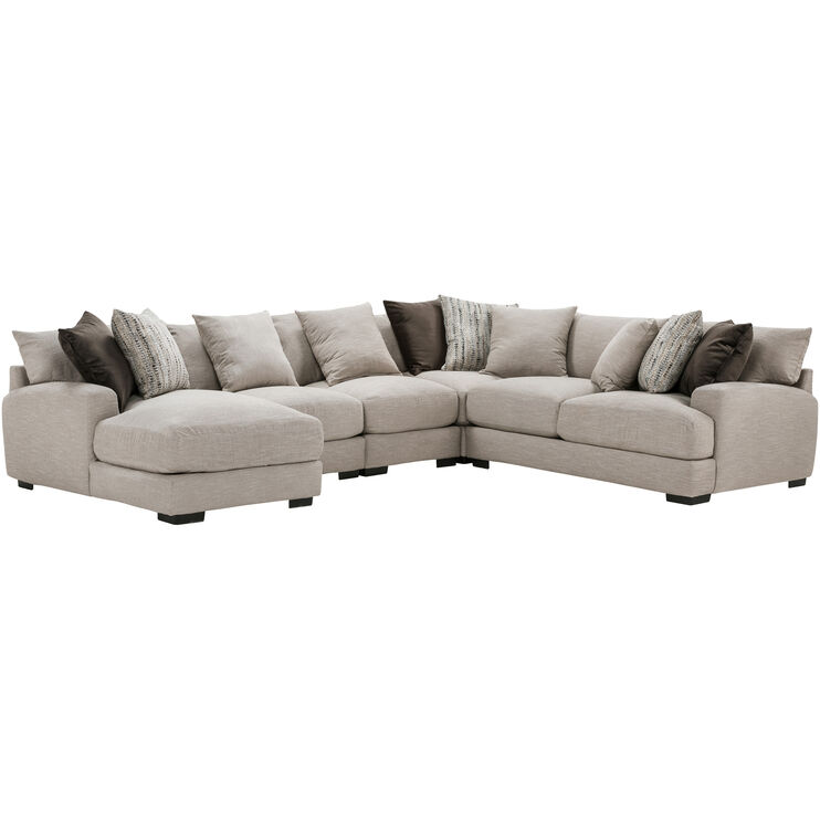 Wake 5 Piece Dusk Left Chaise Sectional