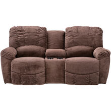La-Z-Boy Hayes Chocolate Pwr Console Loveseat