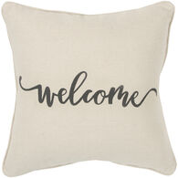 Sentiment Simply Welcome Down Pillow