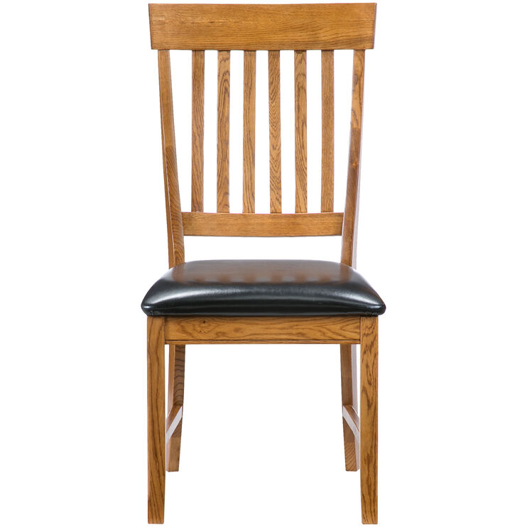 Jefferson Chestnut Slat Back Side Chair