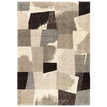 Wild Weave Rampart Slate Abstract Blocks 5 x 8 Rug