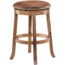 "Sedona 24"" Oak Swivel Stool"