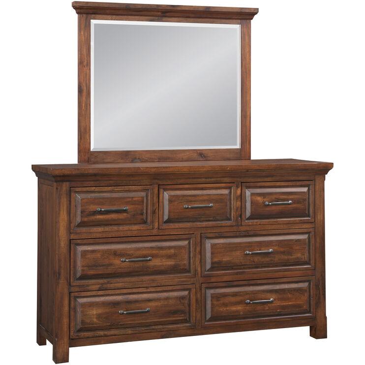 Hill Crest Dark Chestnut Dresser