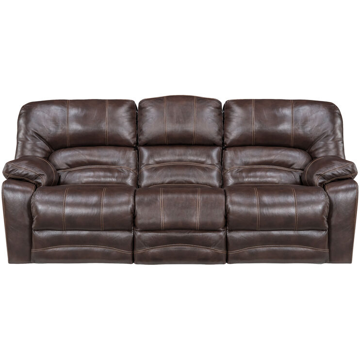 Slumberland Furniture Stansted Chocolate Reclining Sofa