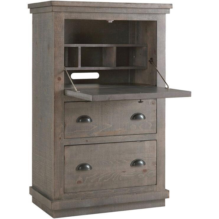 Willow Gray Armoire Desk