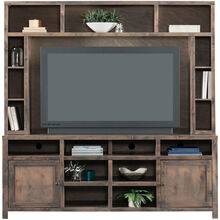 Joshua Creek Barnwood 84 Inch Console with Hutch