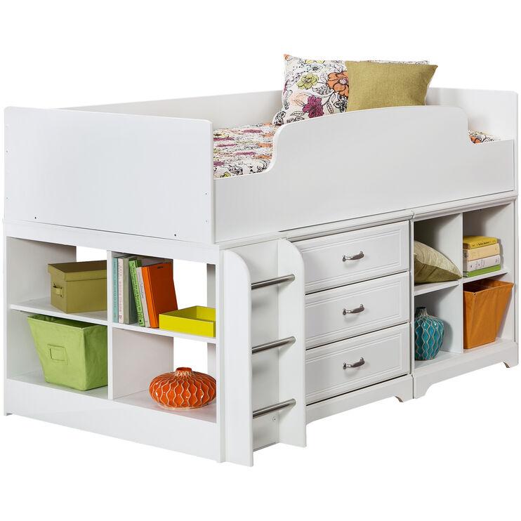 Lulu White Storage Loft Bed